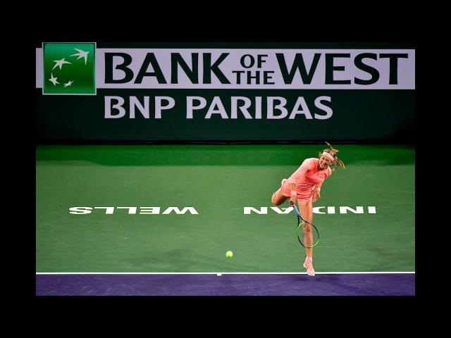 BNP Paribas Open 2018: Victoria Azarenka vs. Heather Watson | Highlights
