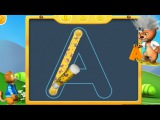 Educational game of abcd to teach the handwritting alphabet the easiest way - video for kids