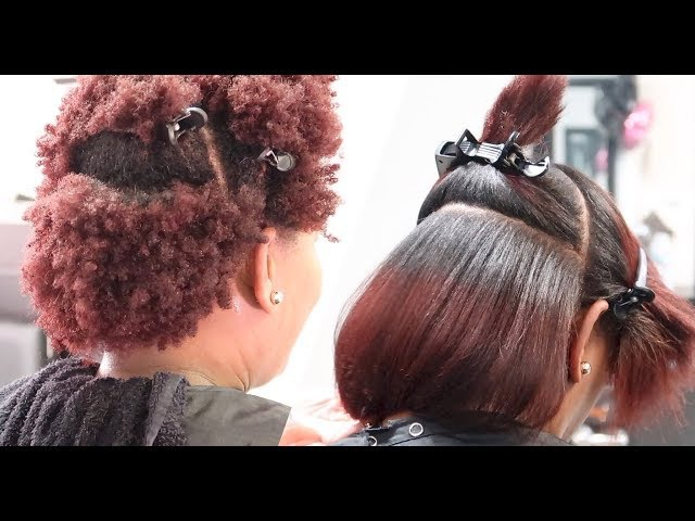 Silk Press on 4Z Natural Hair LOL SalonWork