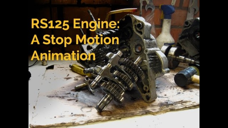 Stripping a 1983 RS125 2 stroke Yamaha Engine Stop motion animation re-edit