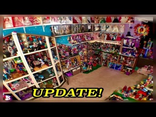 Monster High DollHouse Tour 50Room 54 Bed 350MH Dolls Collection School House Mansion Dorm Video RV