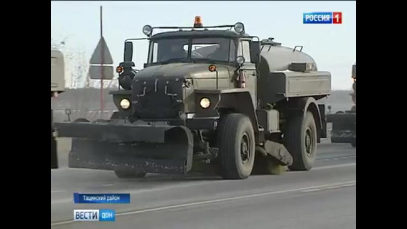 Учения в Тацинском районе. На трассу Ростов-Волгоград сели боевые самолеты