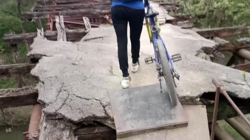 Долгожданная поездка на аварийный мост, ст. Новодмитриевская. 17.04.2018.