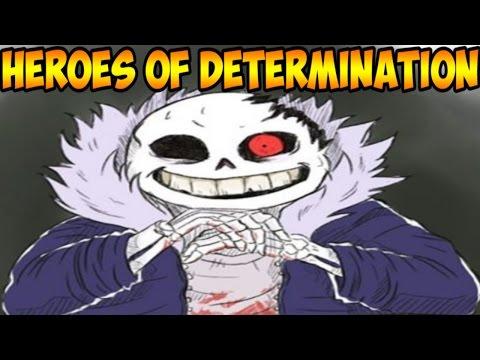 Undertale файтинг | Heroes of Determination | Horrortale Sans