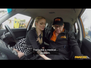 FakeDrivingSchool Georgie Lyall Instructor spunks in Georgies mouth New Porn 2018