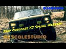 Rc scale studio model 4x4 1:10 rc4wd trail finder 2 lwb Jeep Cherokee Road to Lake