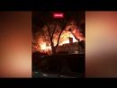 Крупный пожар в Алма-Ате