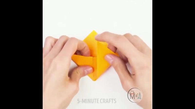 Закладка-мордочка из цветной бумаги