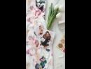 Платье-футляр с цветочным принтом flatlay