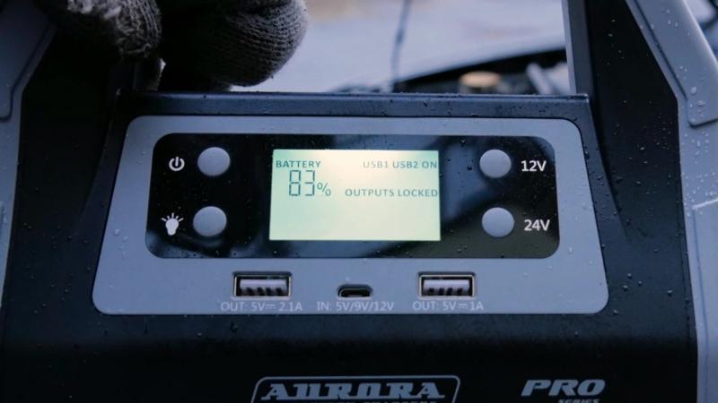 Джамп стартер АТОМ 40 запуск 12-литрового V8