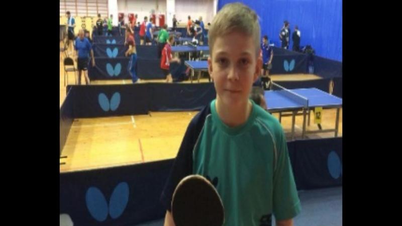 Воспитанник Елены Бокаревой в составе сборной Оренбургской области по настольному теннису.