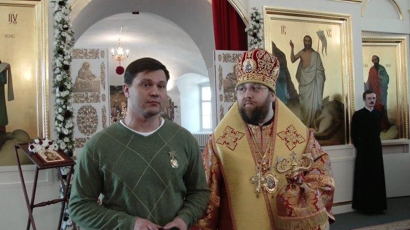 Новости епархии. Престольный праздник Воскресенского собора и награждение мэра города Вологды