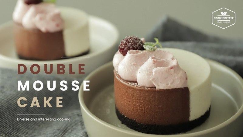 Шоколадно-ванильный муссовый торт
