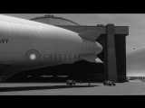 Undock operation of an airship in hangar at an airbase in United States. HD Stock Footage
