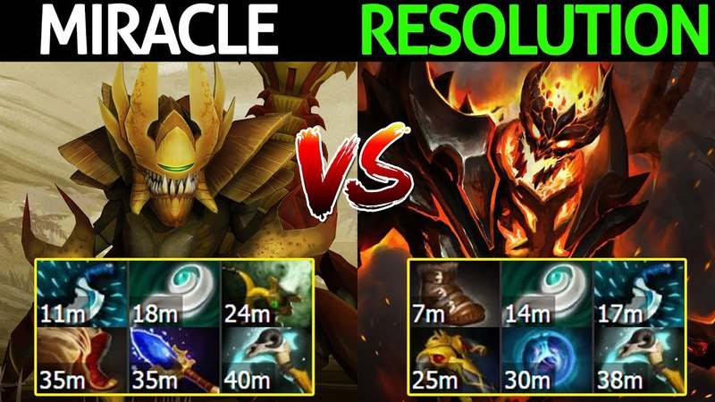Miracle- Sandking VS Resolution Shadow Fiend - Crazy Game 7.13 Dota 2
