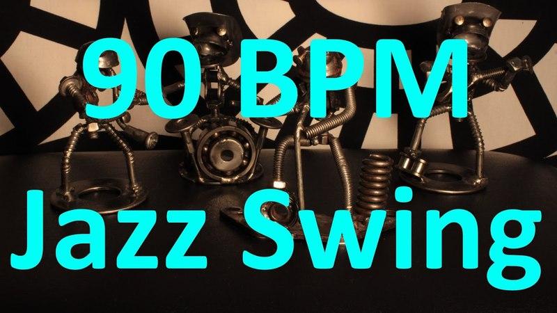 90 BPM - Jazz Swing - 44 Drum Track - Metronome