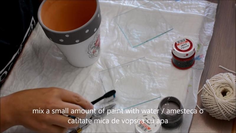 How to decoupage on ceramics DIY flower pot TUTORIAL