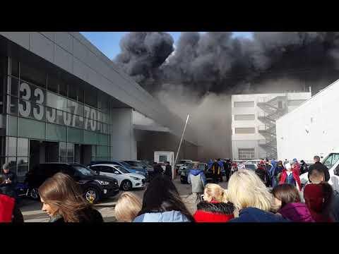 Пожар в Hyundai Рольф Спб приморский