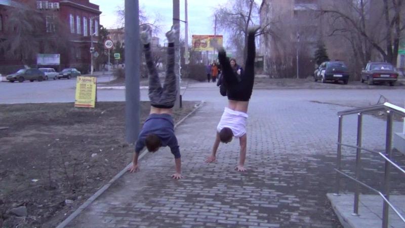 Флэшмоб на улицах Троицка от Олега Сойнова.
