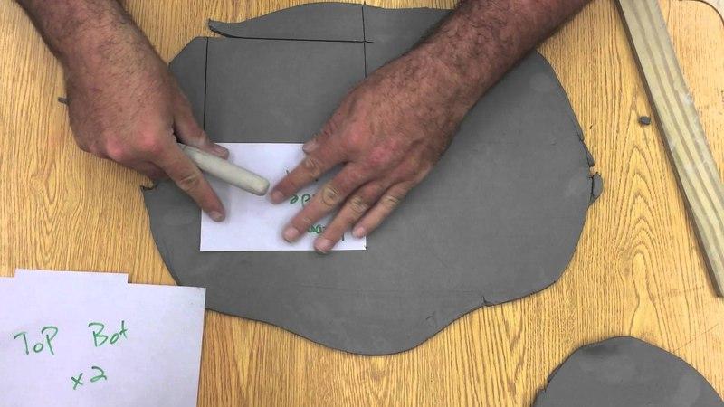 How to make a Slab sgraffito pattern box Part I