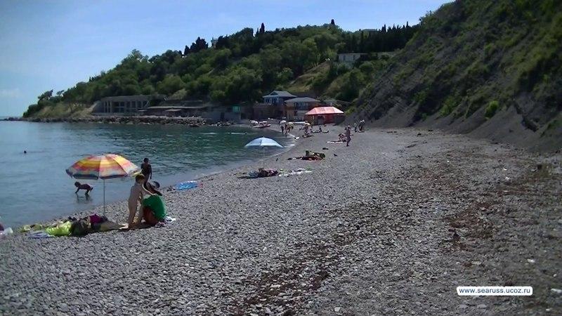 Алупка пляж Зеленый мыс. Черный бугор, Радуга. Крым, ялтинский курорт. Alupka Beaches.