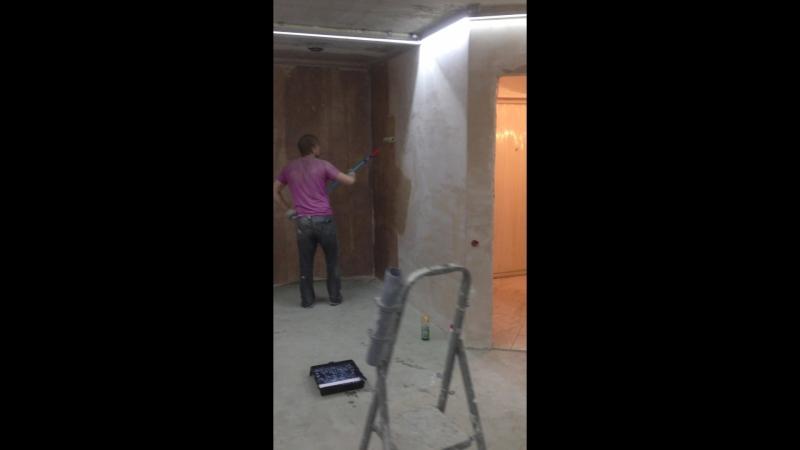 грунтуем стены