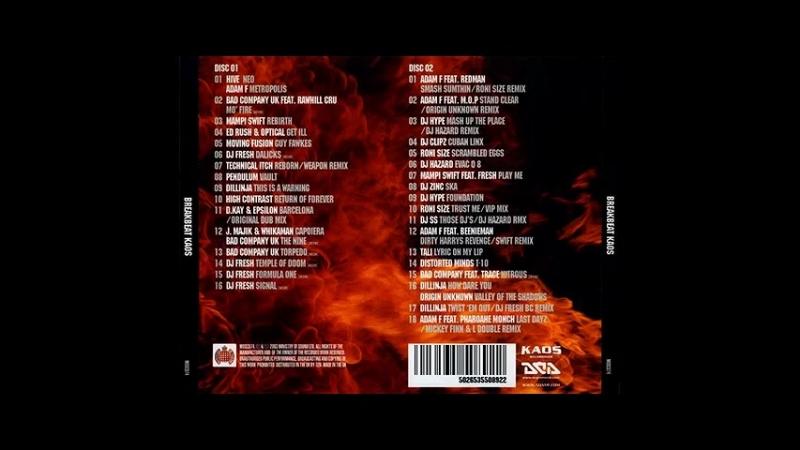 D.J.ADAM D.J.FRESH feat. Mc.GQ - BREAK-BEAT KAOZ DISC-TWO, CD-2, 62-MIN