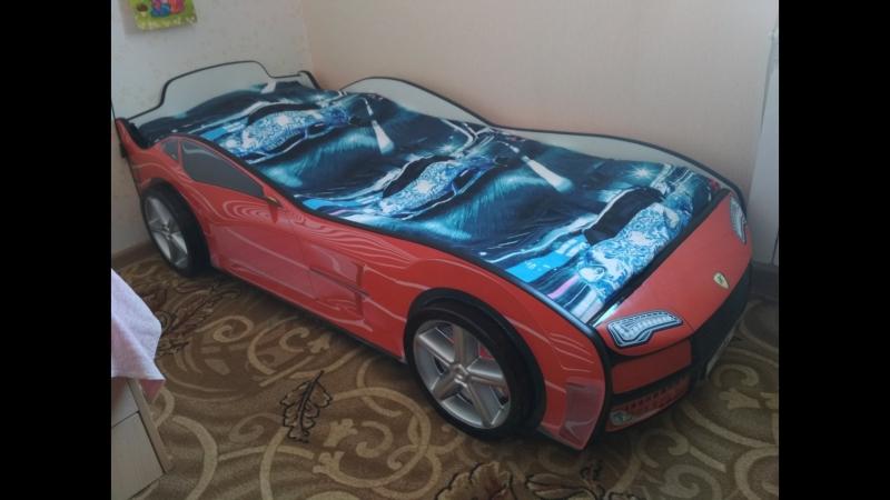 Кроватка-машинка Турбо Красная