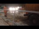 В районе Южное Бутово асфальт кладут прямо на снег