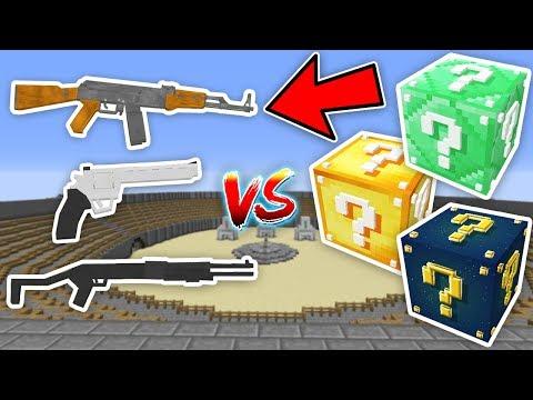 SİLAHLI ŞANS BLOKLARI CHALLENGE - Minecraft