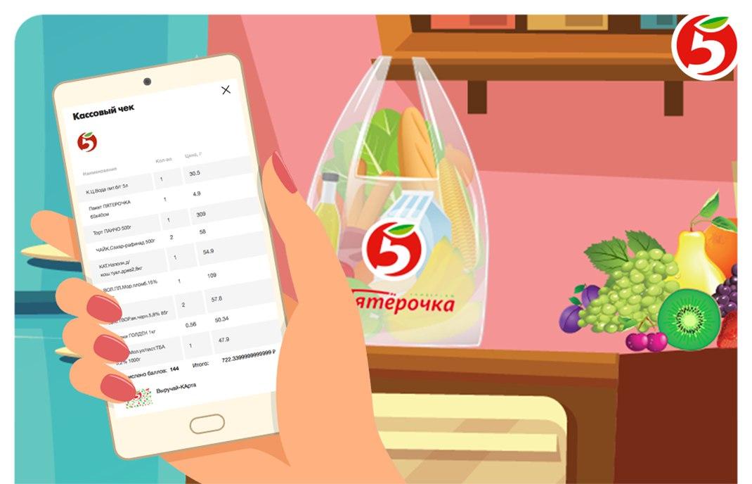 Контролируйте свои покупки с помощью мобильного приложения «Пятёрочка»