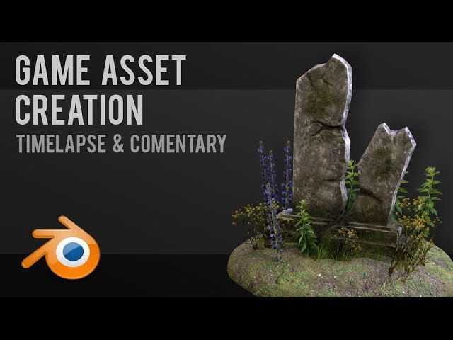 Gravestone Game asset workflow Tutorial Blender