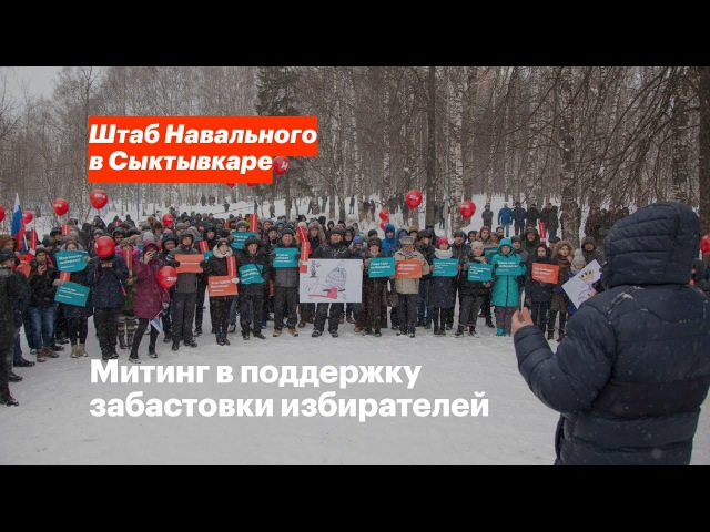 Сыктывкар Забастовка избирателей 28 01 18