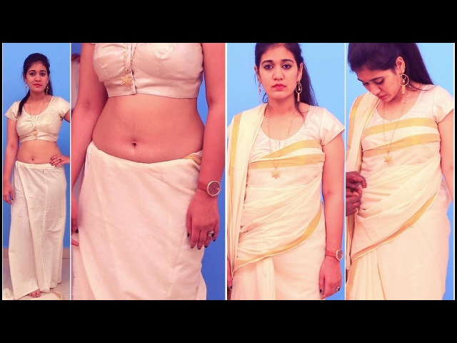 How to Wear A Saree Draping Kerala Set |Perfectly With traditional costume | Different Kerala Styles