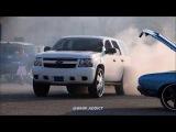 WhipAddict Chevrolet Tahoe Burnout on DUB Floater 30s!! Midwest Fest!