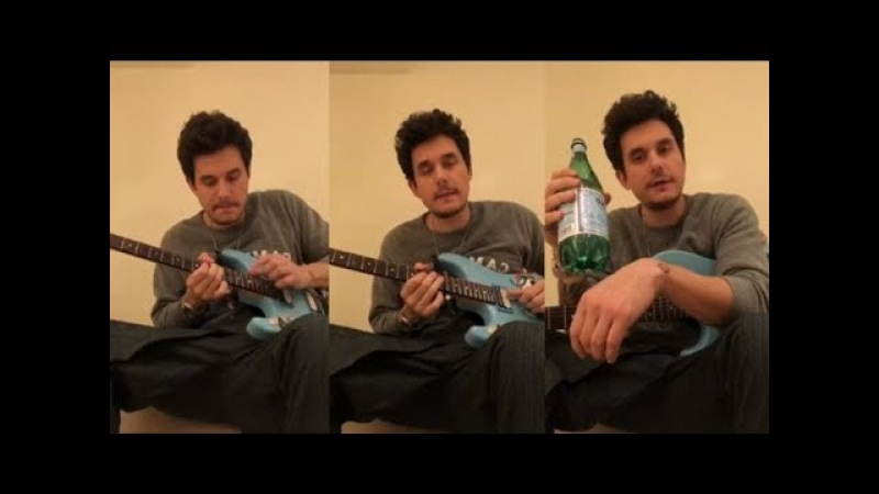 John Mayer Gives Guitar Lessons to his fans | Instagram Live Stream |27January 2018