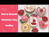 How to decorate Valentine's Day Cookies.