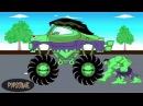 Халк Монстр Трак едет на Автомойку - Мультик про Машины
