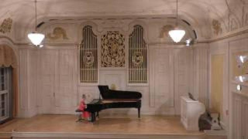 Алиса Рогулина, 10 лет. Концерт в Зальцбурге. Венский зал.