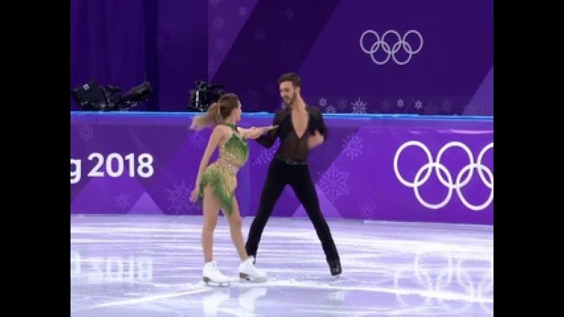 XXIII Зимние Олимпийские игры. Выступление фигуристов Габриэлы Пападакис и Гийома Сизерона