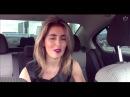 Девушка круто читает рэп в машине OLISHA,красивая девушка классно читает реп,классно спела,талант,по