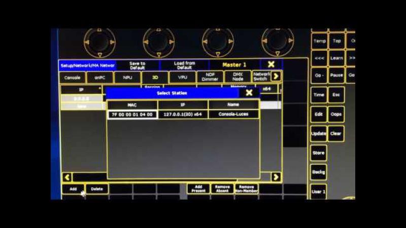 MA2 onpc conectar con MA 3D