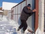 Обзор ОТКАТНЫХ  ВОРОТ, Когда много снега ! Своими руками - это просто СБЫВАЛОМЕЧТ ...