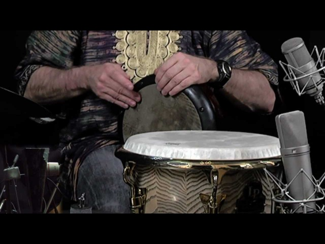 World Percussionist Tom Teasley L P DJEMBE REMO DOUMBEK SABIAN CYMBALS WITH FOOT PATTERN SOLO