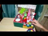 Мастер-класс по созданию детской кухни из картонной коробки. Для детей от 1,5 лет.