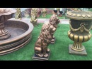 Садовые скульптуры и фонтан на выставке на Новой Риге