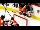 Gudas rocks Hall with huge hit as Devils forward scores on impossible angle