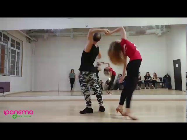 Maxim Anastasia - ZOUK demo at Ipanema dance studio