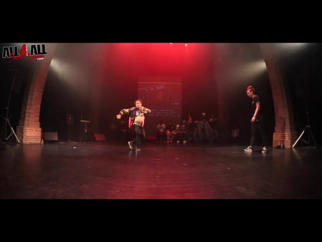 DEDSON vs THEODORA │HIPHOP │ ALL 4 ALL BATTLE EUROPEEN 2017
