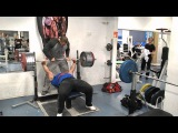 Zahir Khudayarov 230 x 2 bench press